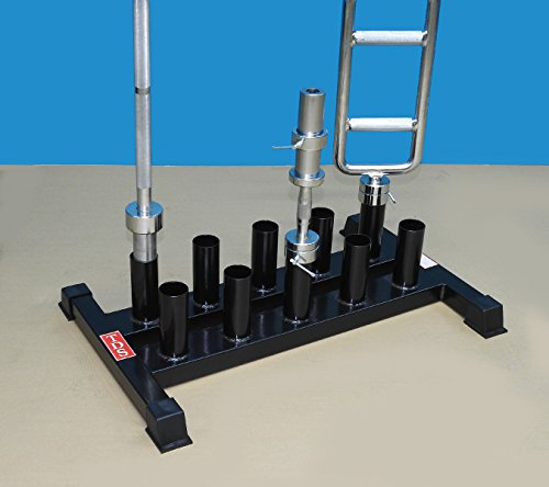 TDS Vertical Bar Rack for 10 Olympic Bars with Heavy Steel Base