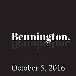 Bennington, October 5, 2016