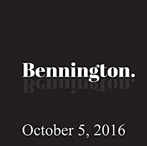 Bennington, October 5, 2016 Radio/TV Program