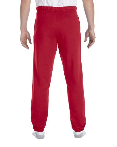 Jerzees Men's Elastic Waist High Stitch Pocket Sweatpant, True Red, Large -