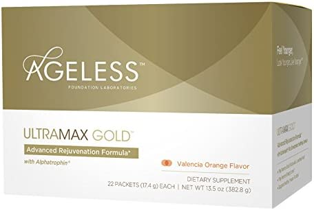 Ageless Foundation Laboratories UltraMAX Gold Effervescent Powder, Valencia Orange Flavor
