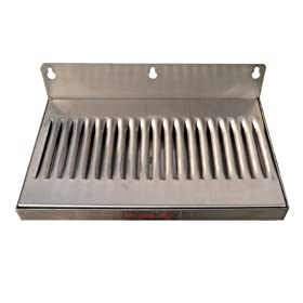 6″ x 12″ Stainless Steel Wall Mount Draft Beer Drip Tray