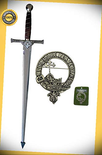 (42'' Macleod Sword with Wall Plaque - MacDONALD perfect for cosplay outdoor camping)