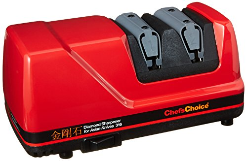 Chef's Choice 316 Diamond Sharpener for Asian Knives, Red Chefs Choice Manual