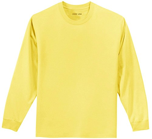 Joe's USA Youth Long Sleeve 100% Cotton T-Shirts in 16 Colors