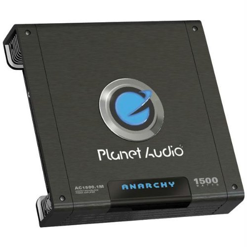 Price comparison product image Planet Audio Ac1500.1M Anarchy Class Ab Monoblock Amp (1,500W Max) 14.50In. X 12.00In. X 4.90In.