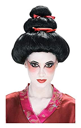 Horror-Shop Geisha peluca de primera calidad: Amazon.es: Juguetes y ...