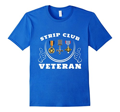 Men's Strip Club Veteran Gift T-Shirt 2XL Royal Blue