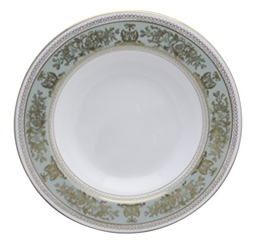 Wedgwood Columbia-Sage Green Rim Rim Soup Bowl (Sage Columbia Wedgwood Green)