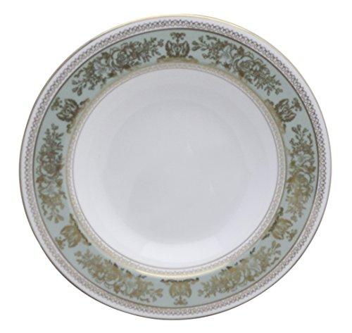 Wedgwood Columbia-Sage Green Rim Rim Soup Bowl