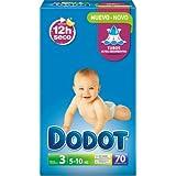 Pañales DODOT talla 3 70 unidades (4-10 KG)
