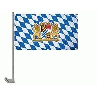Auto-Fahne: Bayern Wappen mit Löwen