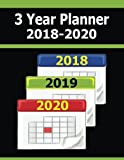 img - for 3 Year Planner 2018-2020: The 2018 thru 2020 3-Year Planner helps you plan activities during a full 3 year period or 36 month calendar. Starts in ... 2 extra months or 38 calendar months). book / textbook / text book