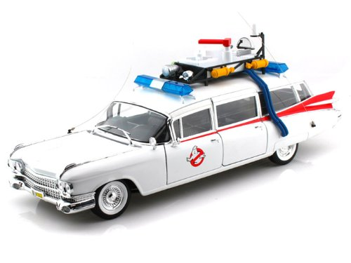 Cadillac 1959 Ambulance (1959 Cadillac Ambulance ECTO-1 From Ghostbusters Regular Edition 1/18 White)
