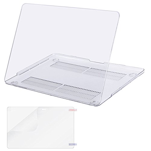MOSISO MacBook Pro 13 inch Case 2019 2018 2017 2016 Release A2159 A1989 A1706 A1708,Plastic Hard Shell Cover& Screen Protector Compatible Newly MacBook Pro 13 with/Without Touch Bar, Crystal Clear
