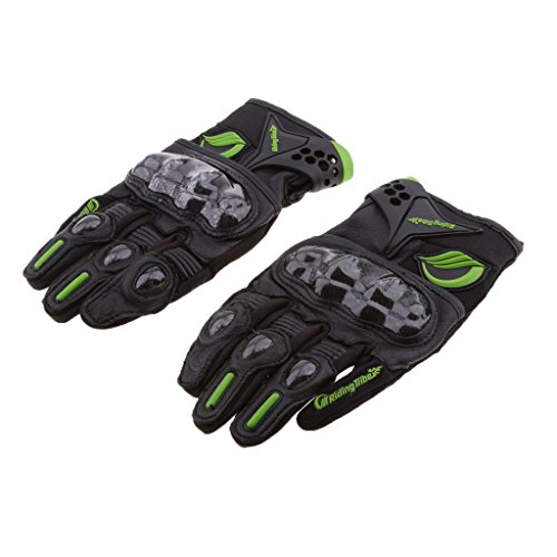MagiDeal Motocross Racing Pro-Biker Motorcycle Cycling Full Finger Gloves M/L/XL/XXL - Black, XL