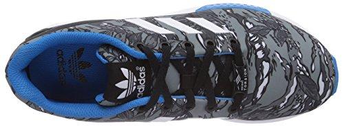 adidas ZX Flux Unisex-Kinder Sneakers Grau (Core Black/Ftwr White/Solar Blue2 S14)