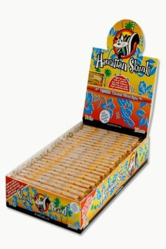 Skunk Rolling Papers Hemp 1 1/4 32 Leaves Hawaiian Skunk Pack Of 24 (Rolling Skunk Papers)