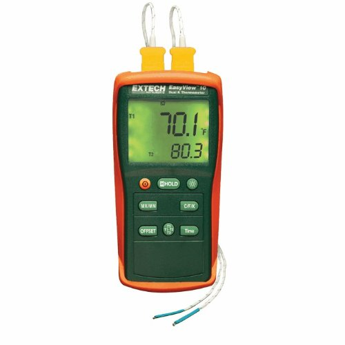 Extech EA10 Easyview Thermocouple Thermometer - Dual Channel by Extech