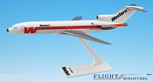 Western Airlines (Western 727-200 Airplane Miniature Model Plastic Snap-Fit 1:200 Part#)