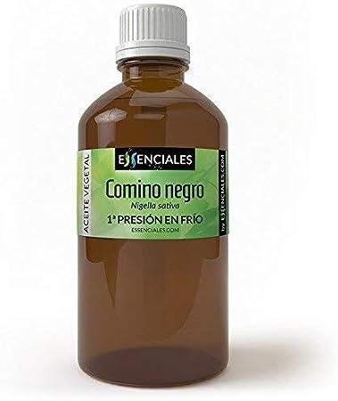 Essenciales - Aceite Vegetal de Comino Negro, 100% Puro y Natural, 500 ml   Aceite Vegetal Nigella Sativa, 1ª Presión Frío