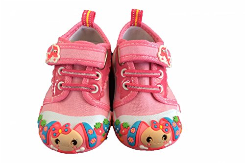 baby toddler pink sneaker canvas shoes size 3 m us