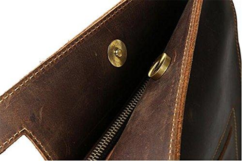 darkbrown Men's Anuan Leather Cowhide Sole Bag xqxXZP0