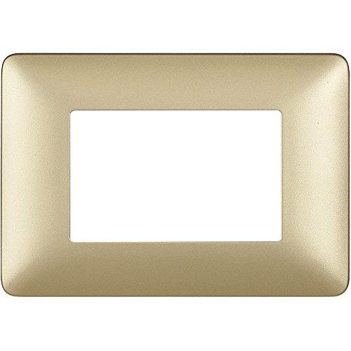 BTicino 3 Module Faceplate, Gold, AM4803MGL