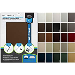 Pelle Patch - Leather & Vinyl Adhesive Repair Patch - 25 Colors Available - Original 8x11 - Medium Brown