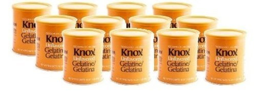 Knox Unflavored Gelatin Powder, 16 Ounce -- 12 per case. by Kraft