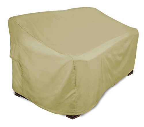 Eevelle Portofino Patio Bench Cover / Patio Loveseat Cover | Tan (X Small) by Eevelle