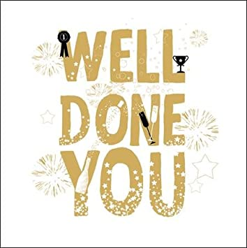 Well Done You Gold Glitter Greeting Card Blank Greetings Cards
