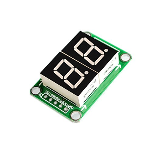 Seajunn 10PCS/LOT 74HC595 Static Driving 2 Segment Digital Display Module Seamless Can Series 0.5-inch 2-bright Red