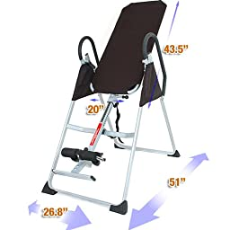 Emer Deluxe Foldable Gravity Inversion Table for Back Therapy Exercise Fitness INVR-01