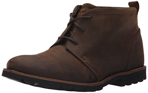 Rockport Men's Charson Brown Oiled Leather Boot 15 W (EE)-15 W