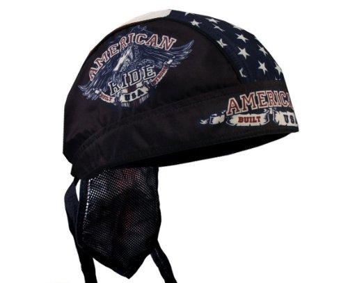 Hot Leathers AMERICAN RIDE EAGLE Biker Head Wrap ()