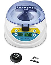 MINI-10K+ Mini Desktop Clinical Lab Centrifuge 3000-10000rpm Adjustable High Speed Electric Centrifuge LED Display with rotors and tube 2.0/1.5/0.5/0.2ml, Timer 1s ~9999min