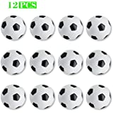 NONE-BRAND YDDS Foosball Replacement Balls,Mini Foosball Ball,Set of 12 Black and White