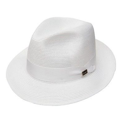 Dobbs Rosebud Straw Summer Hat Florentine Milan White Size 7 3/4 - Dobbs Fashion