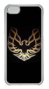 iPhone 5C Case, iPhone 5C Cases - Anti-Scratch Crystal Clear Back Bumper for iPhone 5C Firebird Car Logo 9 Shock-Absorption Hard Case for iPhone 5C