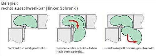 Kesseböhmer LeMans Eckschrank-Schwenkauszug für 60cm Türbreite ... | {Eckschrank küche maße 40}