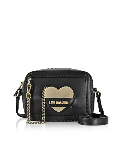 Love Moschino Women's Jc4078pp15li0000 Black Leather Shoulder Bag by Love Moschino (Image #3)
