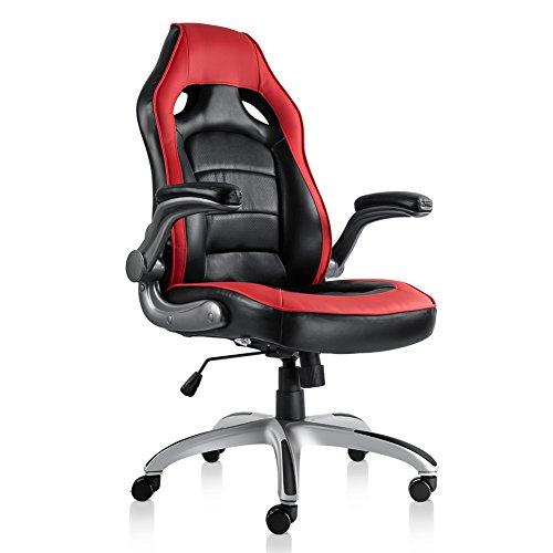 Bonum Gaming Chair Racing Style High-Back PU Leather Office Chair with Backrest Seat and Armrest...