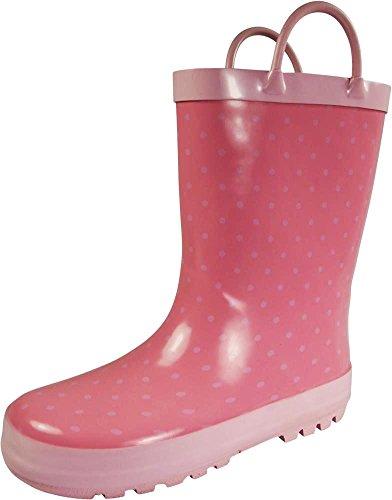 (NORTY - Toddler Girls Polka Dot Print Waterproof Rainboot, Pink 39826-7MUSToddler )