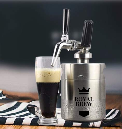 Royal Brew Nitro Cold Brew Coffee Maker Kit 64 Ounce Stainless Steel Keg Homebrew System 2.0 by Royal Brew (Image #2)