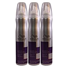 Set of 3 Wella Professionals Elastic Energy Wet Curl Enhancing Mousse Spray 10.1 Oz by Wella