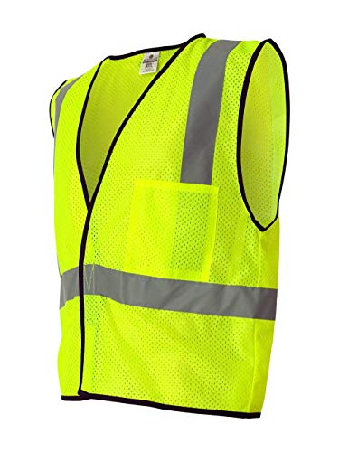 ML Kishigo 1193 Economy Series Ultra Cool Mesh 1 Pocket Vest, Fits 2X-Large and 3X-Large, Lime
