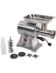 New Commercial Stainless Steel True 1HP Electric Meat Sauage Grinder No 12