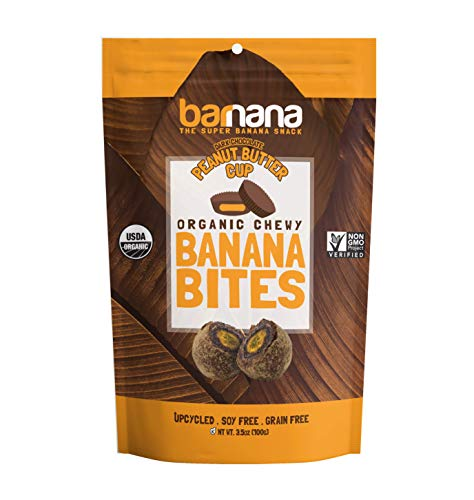 Barnana Organic Chewy Banana Bites - PB Cup -3.5 Ounce - Delicious Barnana Potassium Rich Banana Snacks - Lunch Dinner Sports Hiking Natural Snack - Whole 30, Paleo, Vegatarian