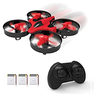 SKYKING F008 Mini Drones for Kids and Beginners,Great Gift Toy for Boys and Girls RC Nano Quadcopter Indoor Small Helicopter RTF Plane with Hovering/Headless Mode/3D Flip/3 Speed/One-Key Return(Red)